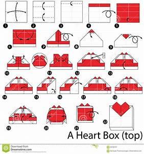 Comment Faire Une Boite En Origami : instructions tape par tape comment faire origami une bo te de coeur illustration de vecteur ~ Dallasstarsshop.com Idées de Décoration