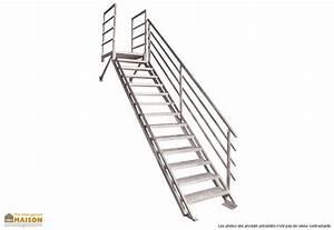 Escalier Metal Prix : escalier droit en m tal mon am nagement maison ~ Edinachiropracticcenter.com Idées de Décoration