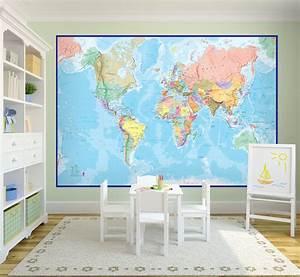 Giant World Map Mural Related Keywords