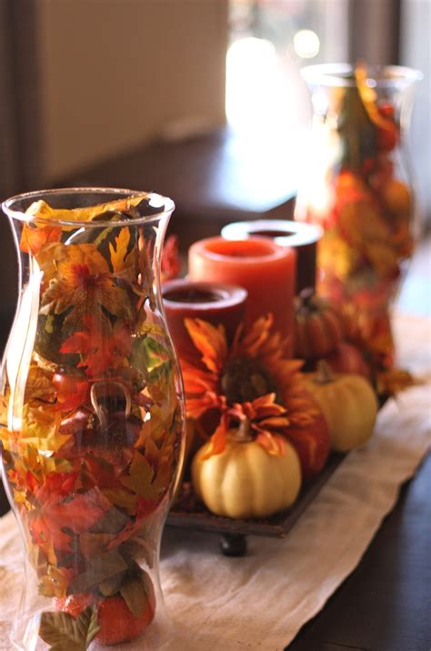 thanksgiving fall decorations 18 leaf centerpieces for fall and thanksgiving d 233 cor digsdigs