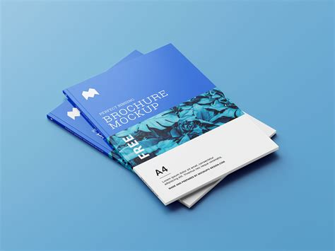 Photorealistic magazine mockup from graphicburger. Free A4 Magazine / Brochure Book Mockup Set (6 PSD Files ...