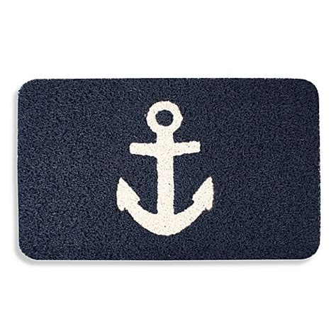 Kikkerland Doormat by Kikkerland 174 Anchor 18 Inch X 30 Inch Door Mat Bed Bath