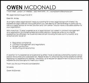 Legal cover letter sample email
