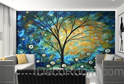 starry trees lolliepop flower wall mural wallpaper wall