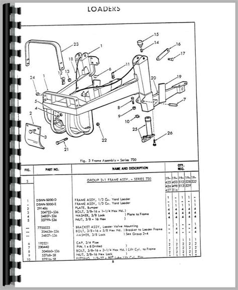 Ford Industrial Loader Attachment Parts Manual