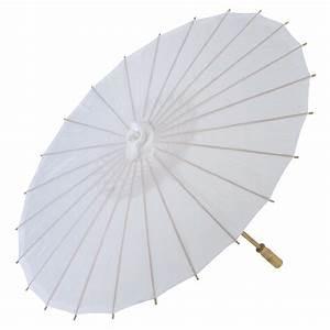 32quot White Premium Nylon Parasol Umbrellas On Sale Now