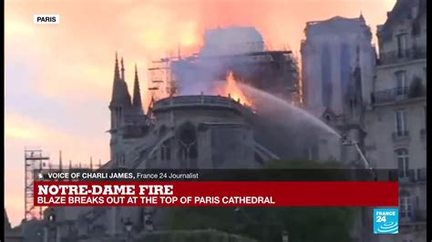 notre dame fire  scaffolding  started  collapse