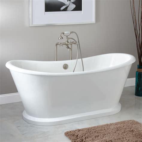 bath tub 66 quot durham bateau slipper cast iron skirted tub
