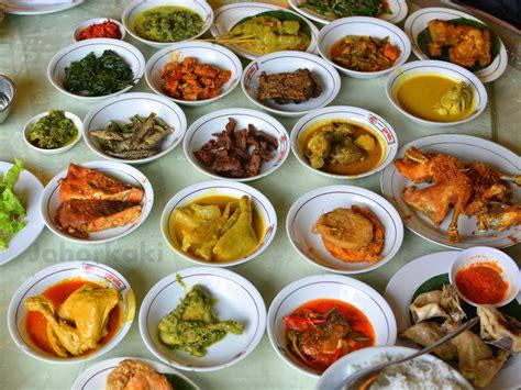 cuisine kaki nasi padang at garuda restaurant in jakarta indonesia
