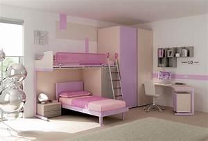 Lit Superposé Ado : chambre enfant lits superpos s ton pastel moretti ~ Farleysfitness.com Idées de Décoration