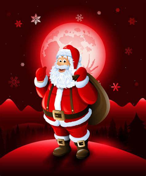 christmas santa  red xmas background vector