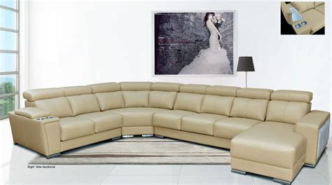 sectional sofa drink holder cream italian leather extra large sectional with cup