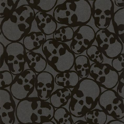 black wallpaper skulls wallpaper graham brown