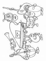 Coloring Orchestra Instrument Pages Printable Musical Getcolorings Fun sketch template