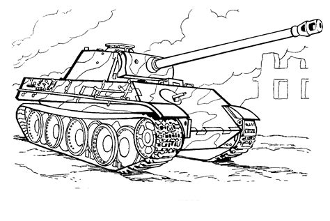 coloring page modern tank  germany