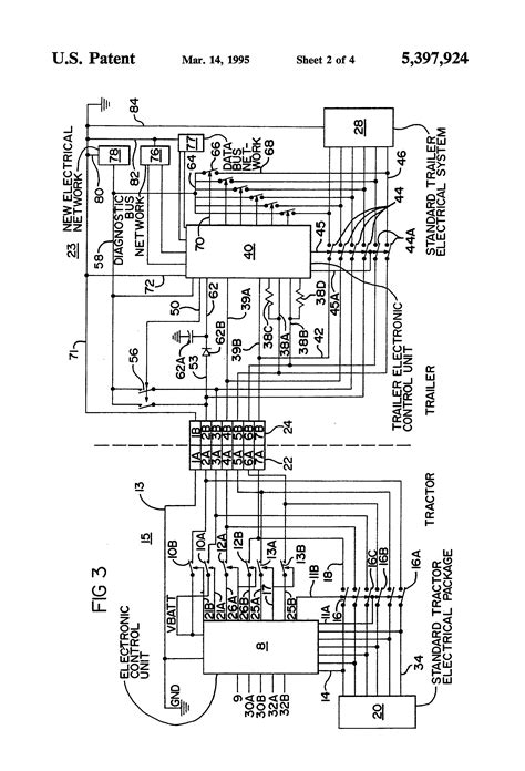 patent us5397924 truck tractor and trailer electrical communication system patents