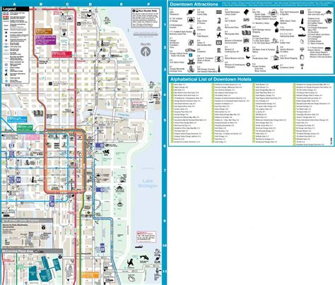 Chicago Loop Hotels And Tourist Attractions Map - Chicago ...