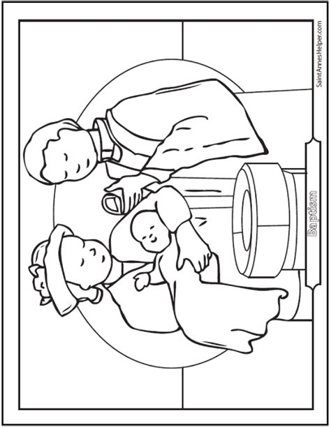 baptism coloring pages baptism coloring sheet baby at the font