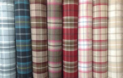 Tartan Plaid Drapes - porter tartan plaid check balmoral wool effect