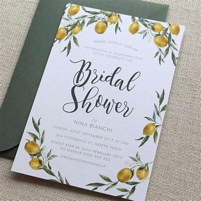Shower Bridal Invitations Lemon Invitation Tuscan Should