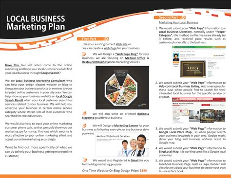 Local Marketing Company by Local Business Marketing Plan Exle