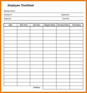 Printable Employee Attendance Forms