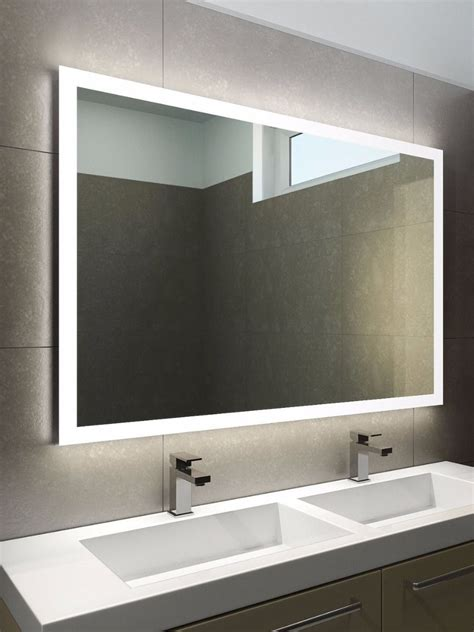 led lights behind bathroom mirror halo wide led light bathroom mirror 842h illuminated