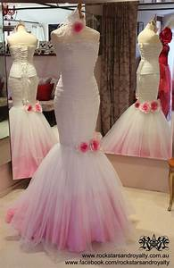 pink dip dyed ombre wedding dress by rockstars and With dip dyed wedding dress for sale