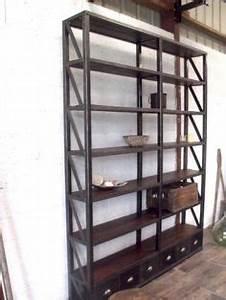 Etagere Industrielle Vintage : tag re industrielle sur pinterest meubles industriels ~ Teatrodelosmanantiales.com Idées de Décoration