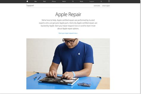 apple website  reserve repairs   authorized