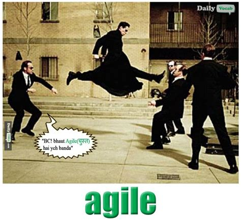 Agile Meme - agile meaning in hindi with picture dictionary