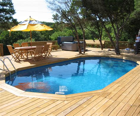Pictures Of Wooden Above Ground Pool Decks by Best Swimming Pool Deck Ideas