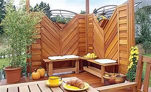 Sichtschutz terrasse sichtschutz selbstde for Feuerstelle garten mit paravent sichtschutz balkon