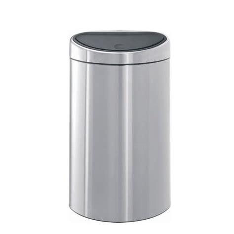 poubelle cuisine 40 litres poubelle touch bin demi lune 40 litres inox matt