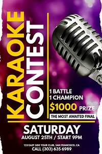 Create Business Flyer Karaoke Contest Poster Template Postermywall