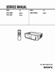 Sony Rm-pjm1  Vpl-cs1 Service Manual