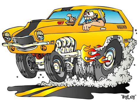 17 Best Images About Hot Rod Cartoons On Pinterest