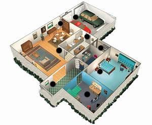 plan maison plain pied 4 chambres 3d With maison en 3d gratuit 0 images 3d dextensions de maisons