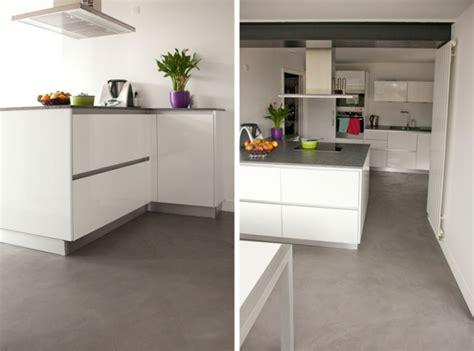 sol cuisine béton ciré le béton ciré dans la maison moderne santos kitchens