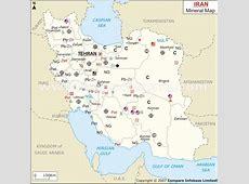 Iran Mineral Map Natural Resources of Iran