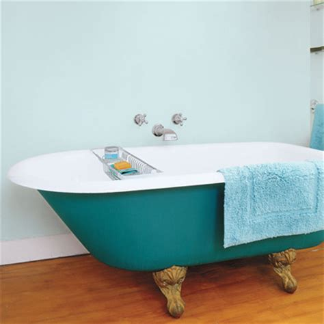 september paint  claw foot tub  vibrant hue  quick
