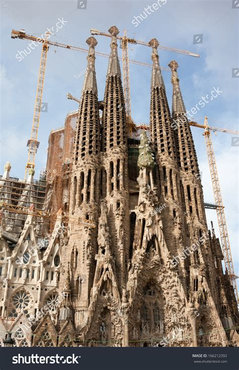 Famous Architecture Masterpiece Sagrada Familia Barcelona