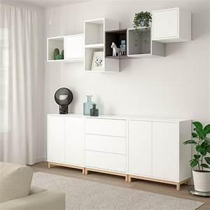 Ikea Eket Ideen : eket schrankkombination untergestell wei hellgrau dunkelgrau ikea ~ A.2002-acura-tl-radio.info Haus und Dekorationen