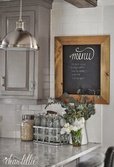 country chalkboard for kitchen 27 best country cottage style kitchen decor ideas and 5942