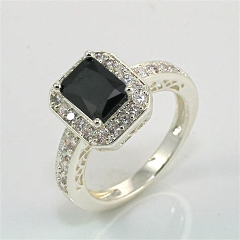 emerald cut black onyx ring would be a very and unique engagement ring