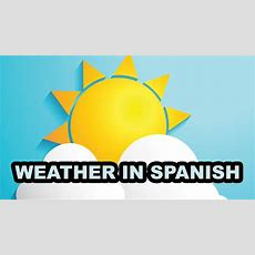 Full List Of Weather Words In Spanish  Weather Vocabulary