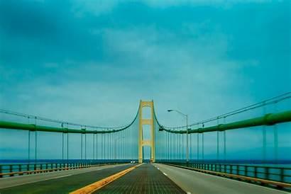 Michigan Bridge Mackinac North Upper Connects Lower
