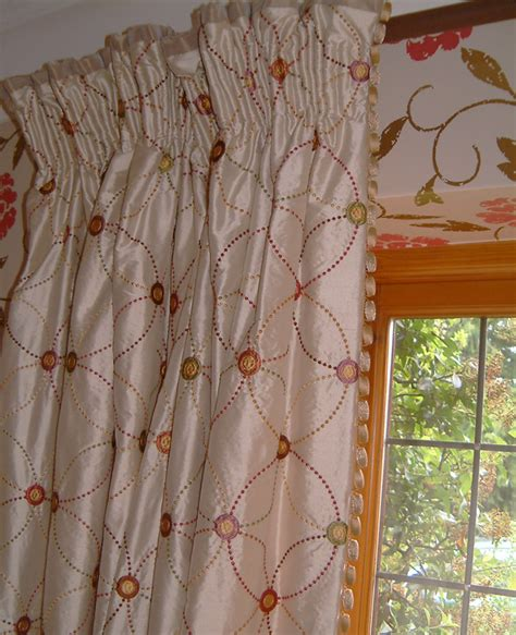 curtains with pleat heading and buttons