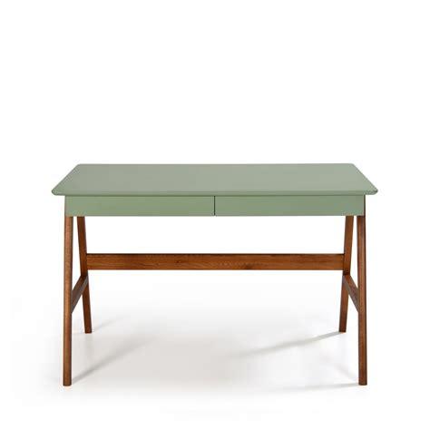 bureau pratique et design bureau laqué chêne blanc 120x70cm skoll look scandinave