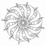 Coloring Mandala Spiral Pages Template sketch template